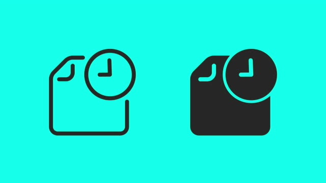 schedule icons - vector animate - calendar date stock videos & royalty-free footage