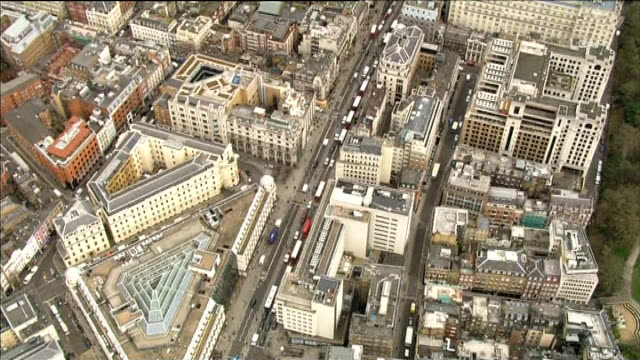 scheme to create new northbank district in london england london area showing proposed new northbank district from trafalgar square east down the... - the strand london stock videos and b-roll footage