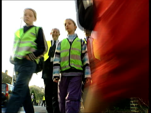 scheme to cut traffic on school run charles clarke mp interviewed sot car is important part of our life can't outlaw it in any way but more we can... - bicycle seat stock videos & royalty-free footage
