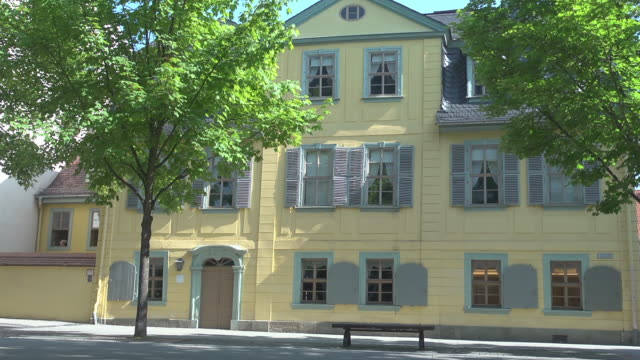 schiller´s house on a sunny day - weimar stock videos & royalty-free footage