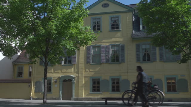 schilller´s house in the evning - weimar stock videos & royalty-free footage
