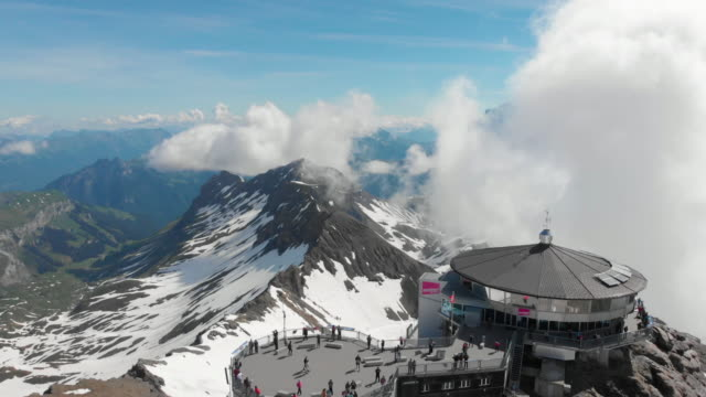Schilthorn mountain landscape and scenic view for  panoramic natural