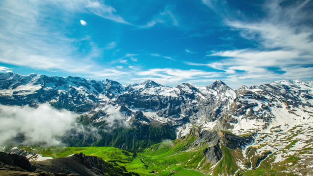 Schilthorn mountain landscape and scenic view