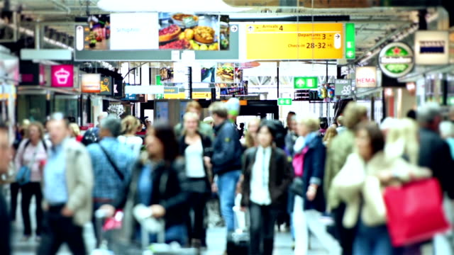 Schiphol Airport travellers