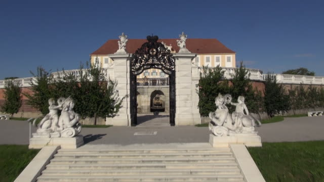 schloss hof - entering the castle 02 - palace stock videos & royalty-free footage