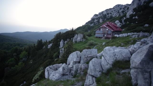 schlosser's moutain hut in risnjak national park - hut stock videos & royalty-free footage