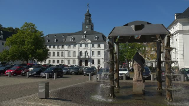 Schlossplatz with Old Town Hall, Saarbrucken, Saarland, Germany, Europe