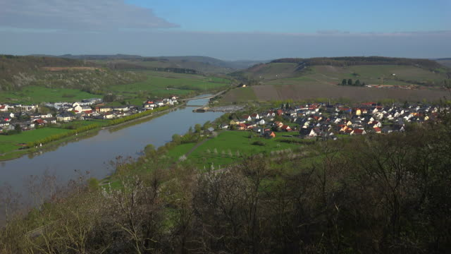 Schoden in Saar Valley near Saarburg on Saar River, Rhineland-Palatinate, Germany