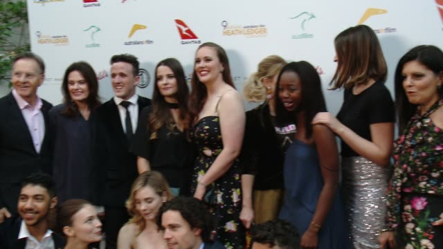 stockvideo's en b-roll-footage met scholarship finalists at the 9th annual heath ledger scholarship dinner at sunset marquis hotel on june 1 2017 in west hollywood california - spelkandidaat