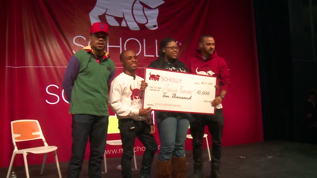 wgn scholly held their first scholly scholarship summit on february 10 in partnership with socialworks chance the rapper's youth empowerment charity... - chance stock videos & royalty-free footage