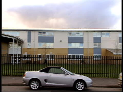 school boy arrested over death of fellow pupil itv late news u'lay glasgow all saints secondary school school where pupil died after scuffle in... - itv late news stock-videos und b-roll-filmmaterial