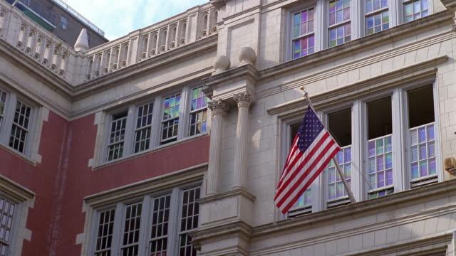 stockvideo's en b-roll-footage met cu, la, school building, east village, new york city, new york, usa - school building