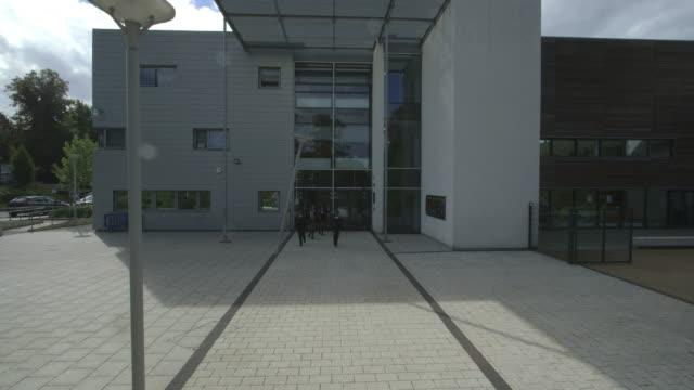School children leaving