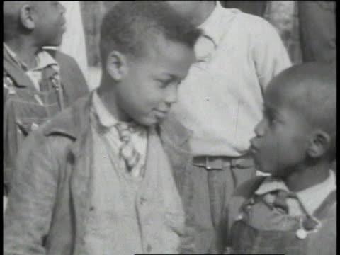 1939 ms school children / lowndes county, alabama, united states - alabama video stock e b–roll