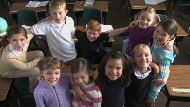 school children smiling - see other clips from this shoot 1148 stock videos & royalty-free footage
