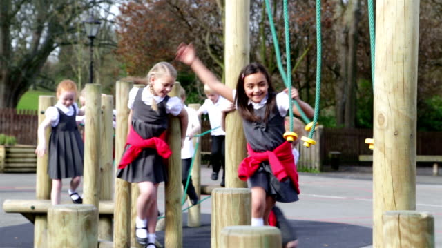 school children - playground stock videos & royalty-free footage