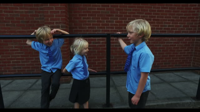 school children - adult imitation stock videos and b-roll footage