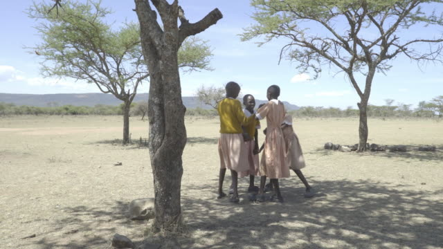 school chrildren. kenya. africa. - schoolgirl stock videos and b-roll footage