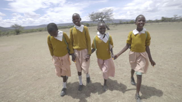 school chrildren. kenya. africa. - girls stock videos & royalty-free footage