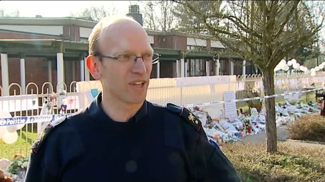 parents visit scene of crash Walter Cuypers interview SOT Various shots of crowds of worshippers standing outside local church Close shot of woman...