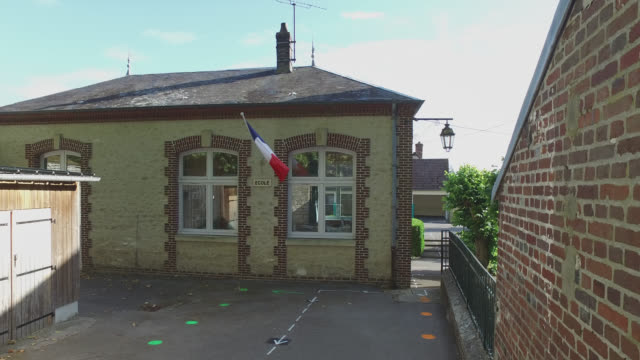 school in a village - french culture stock videos & royalty-free footage