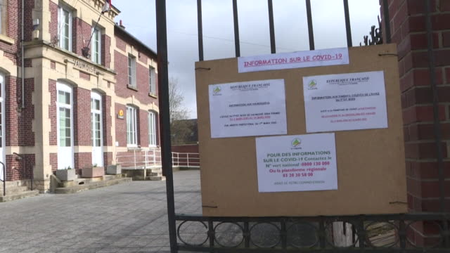 a school in france closed due to coronavirus - kinderspielplatz stock-videos und b-roll-filmmaterial