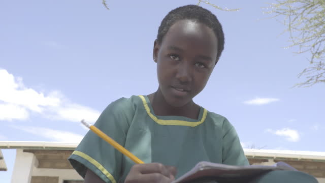school. kenya, africa. - schoolgirl stock videos & royalty-free footage