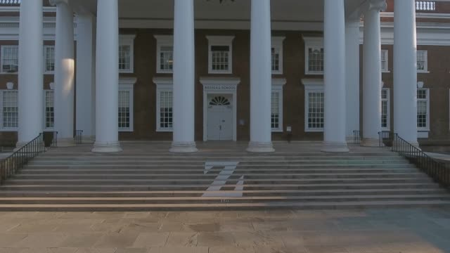 school of medicine old building on grounds at the university of virginia - university of virginia stock videos & royalty-free footage