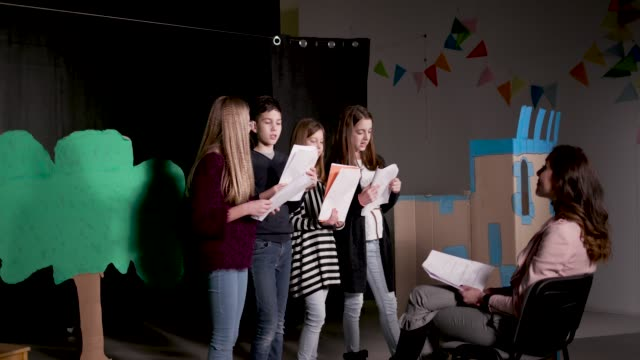 school play rehearsal - performance stock videos & royalty-free footage