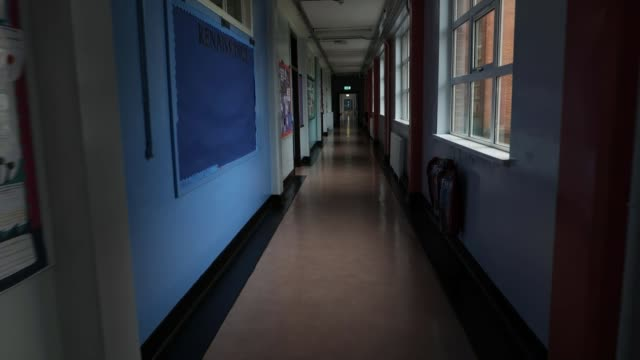 school pupils in scotland experience mixed results, with appeals likely after downgrades based on school reputation; scotland: int classroom door... - drawer stock videos & royalty-free footage