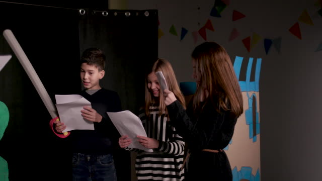 school theater group rehearsing - rehearsal stock videos & royalty-free footage