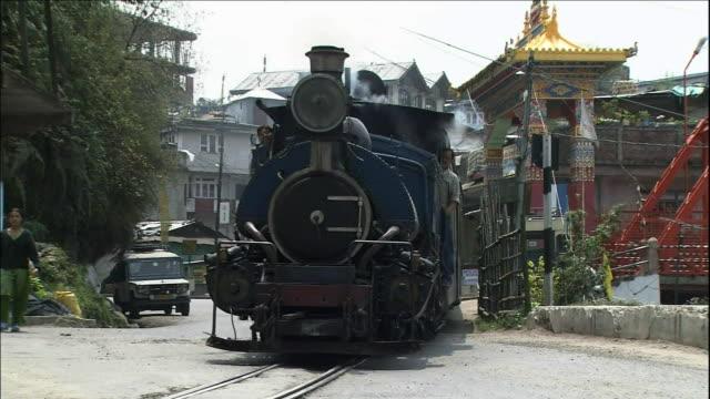 School train, Rail tracks, Darjeeling Himalayan Railway