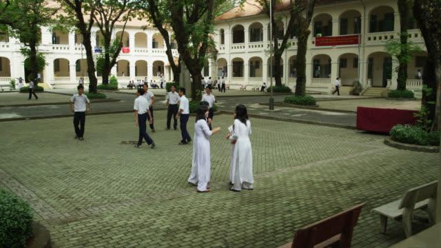 School Yard of Le Hong Phong High School