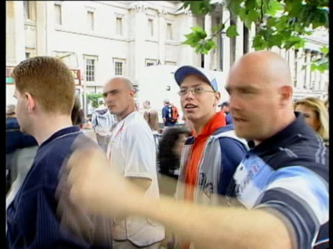 schoolboy nervous england fans in leeds after brazil equalize actors watching match on the set of the tv show 'the bill' sad and nervous fans in... - 2002 bildbanksvideor och videomaterial från bakom kulisserna
