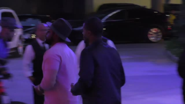 ScHoolboy Q Kendrick Lamar arriving to see Kobe Bryant's final game at Staples Center in Los Angeles Celebrity Sightings on April 13 2016 in Los...