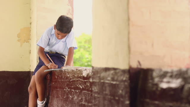 schoolboy studying in the school, haryana, india - schoolboy stock videos and b-roll footage