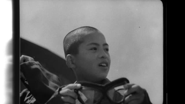 schoolboys experience flight training on type 96 transport planes with the imperial japanese navy - japanese school uniform stock videos & royalty-free footage