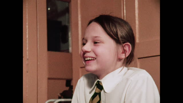 schoolchildren talk and laugh, 1970s - schoolboy stock videos & royalty-free footage