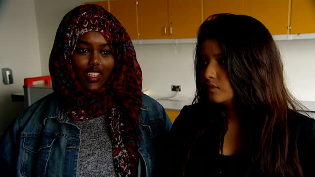 stockvideo's en b-roll-footage met schoolgirl yashika bageerathi deported to mauritius london int vox pops lynne dawes setup shot with reporter / interview sot - deportatie