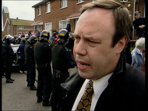 schoolgirls being led from school out of the back entrance pan taxis carrying schoolgirls away from school nigel dodds mp interview sot must remember... - northern ireland stock videos & royalty-free footage