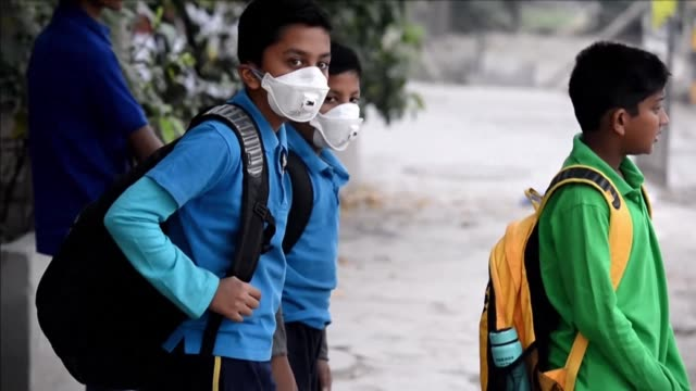 Schools across New Delhi reopen after three days of closures due to smog