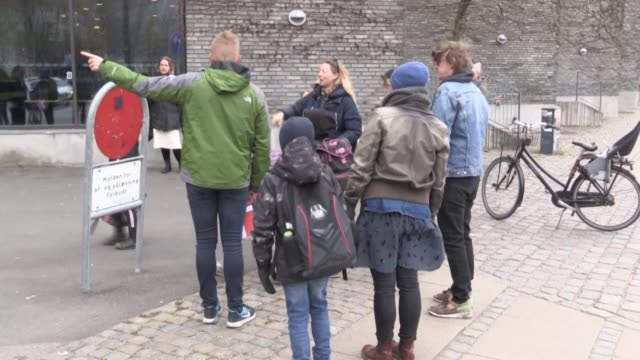 schools in denmark reopen after a monthlong closure over the novel coronavirus becoming the first country in europe to do so - danimarca video stock e b–roll