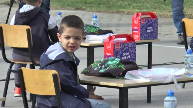 schools in north macedonia have opened their doors to students on thursday, oct. 1, under strict measures against covid-19. schools had been... - push in stock videos & royalty-free footage