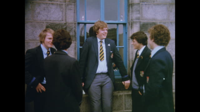 1981 schools of aberdeen, scotland - aberdeen schottland stock-videos und b-roll-filmmaterial
