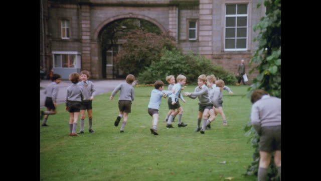 1981 schools of aberdeen, scotland - scottish culture video stock e b–roll