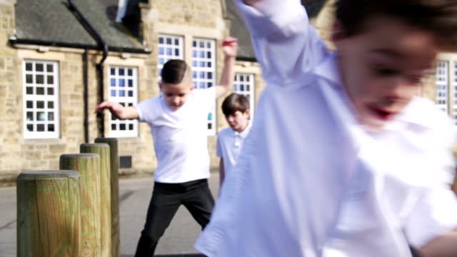 schoolyard fun - english culture stock videos & royalty-free footage