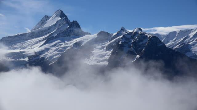 schreckhorn, grindelwald, bernese oberland, canton of bern, switzerland - european alps stock videos & royalty-free footage