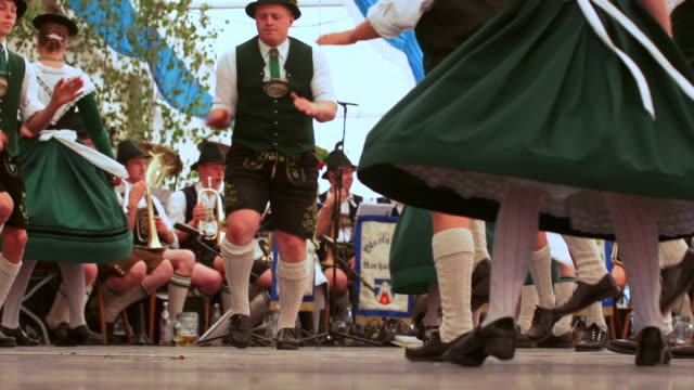 SLO MO Schuhplattler performance in Bavarian beer tent