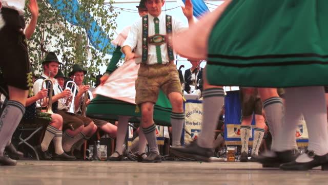Schuhplattler performance in Bavarian beer tent