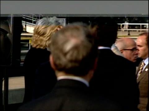 Schwarzenegger and Blair unite on global warming Press conference BLACK